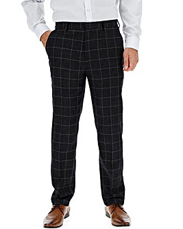 Navy Check Theo Windowpane Trousers