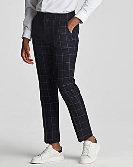 Navy Check Theo Windowpane Trousers