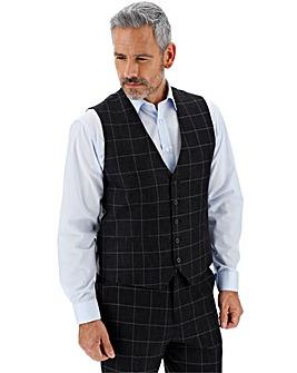 Navy Check Theo Windowpane Waistcoat