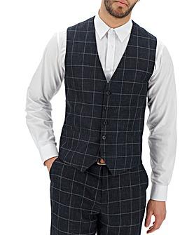 Navy Theo Windowpane Waistcoat