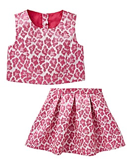 KD Girls Leopard Print Two Piece