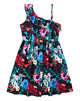 KD Girls One Shoulder Swing Dress