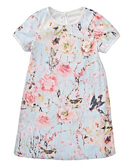 KD Girls Sequin Printed Shift Dress