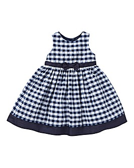 KD Baby Navy Gingham Dress