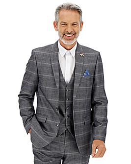 Vinnie Silver Check Suit Jacket