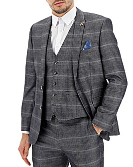 Silver Check Vinnie Suit Jacket