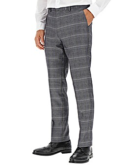 Vinnie Silver Check Suit Trousers 31 inch leg