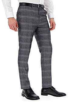 Silver Check Vinnie Suit Trousers 31in