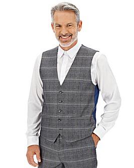 Silver Check Vinnie Waistcoat
