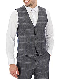 Vinnie Silver Check Waistcoat