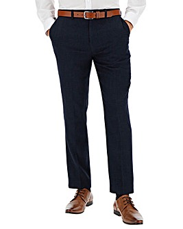Navy Zak Puppytooth Suit Trousers