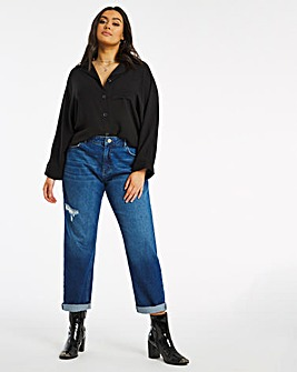 Riley Ripped Slouch Non Stretch Boyfriend Jeans