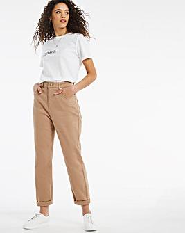 Demi Camel Mom Jeans