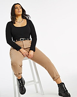 Demi Camel Mom Jeans