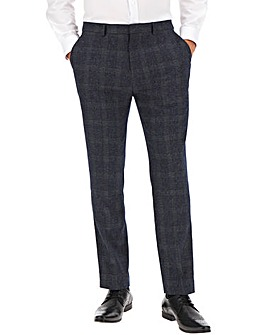 Denim Check Derek Windowpane Suit Trousers