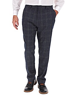 Denim Check Derek Windowpane Trousers