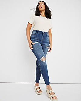 Chloe Ripped Vintage Blue High Waist Skinny Jeans