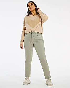 Demi Washed Khaki Mom Jeans
