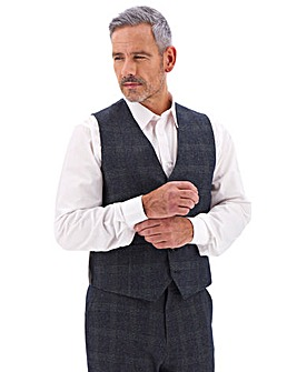 Denim Check Derek Windowpane Waistcoat