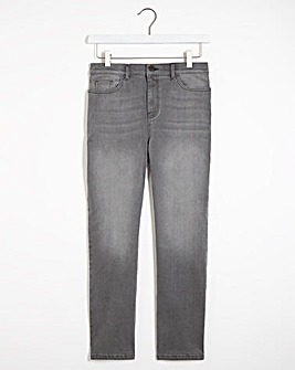 Grey Wash Authentic Straight Leg Jeans