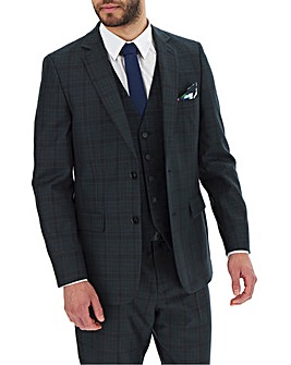 Teal Check Greg Plaid Suit Jacket