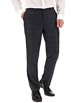 Teal Check Greg Plaid Suit Trousers