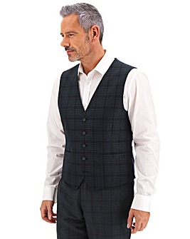 Teal Check Greg Plaid Waistcoat