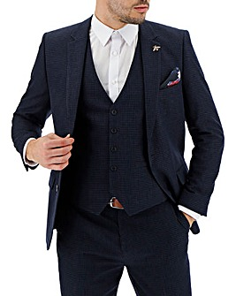 Navy Zak Puppytooth Suit Jacket