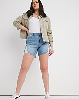 Fern Vintage Blue Ripped Denim Shorts