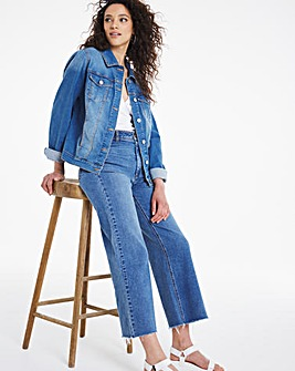 Mid Blue Western Denim Jacket