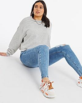 Chloe Stonewash Ripped High Waist Skinny Jeans