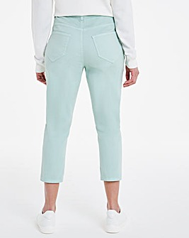 24/7 Sage Crop Jeans made with Organic Cotton