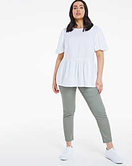Bella Khaki Pull On Slim Leg Jeggings