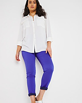 Bella Cobalt Pull On Slim Leg Jeggings