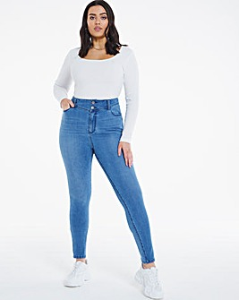 Light Vintage Blue Booty Shaper Powerstretch High Waist Skinny Jeans