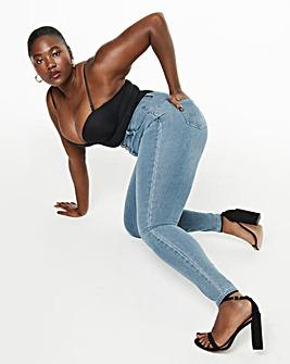 Light Vintage Blue Booty Shaper Powerstretch High Waist Skinny Jeans