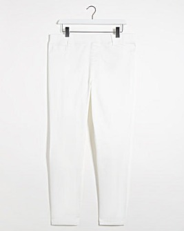 Bella White Pull On Slim Leg Jeggings