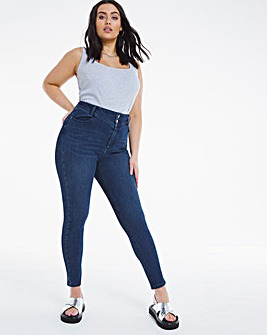 Vintage Blue Booty Shaper Powerstretch High Waist Skinny Jeans