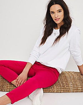 Amber Magenta Pull On Crop Jeggings