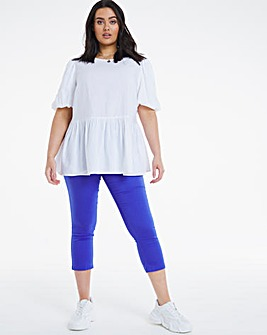 Amber Cobalt Pull On Crop Jeggings