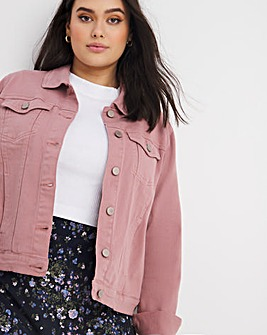 Dusky Pink Western Denim Jacket