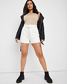 Off-White Paperbag Waist Belted Shorts