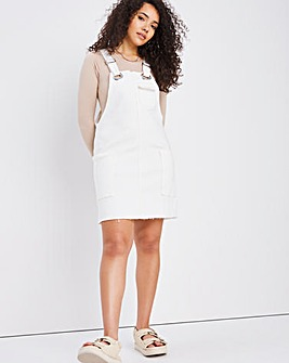 Off-White Slouchy Denim Pinafore Dress