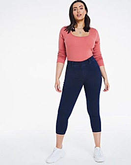 Amber Indigo Pull On Crop Jeggings