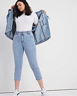 Shape & Sculpt Light Blue Cropped Straight Leg Jeans