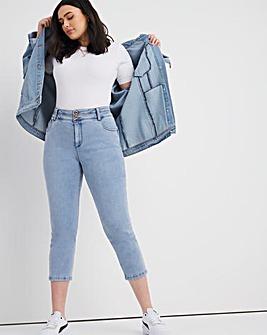 Shape & Sculpt Light Blue Cropped Straight Leg Jeans