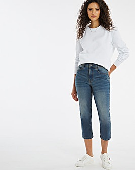 24/7 Light Vintage Blue Crop Jeans made with Organic Cotton