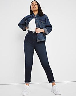 Demi Dusky Indigo High Waist Mom Jeans