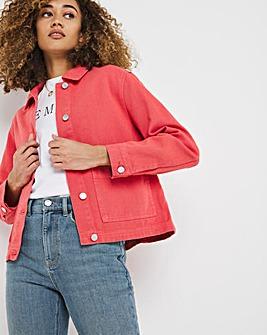 Terracotta Patch Pocket Denim Jacket