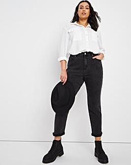 Demi Black Vintage High Waist Mom Jeans